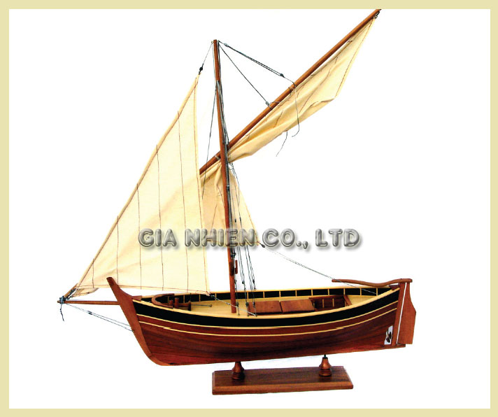 Pointu Model Fishing Boat - Wooden Craft Boat