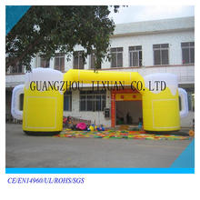 attractive inflatable beer bottle arch ,inflatable bee gate for Oktoberfest
