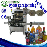 Come here!cheap price speed full automatic beverage bottle shrinking sleeveing labeling applicator