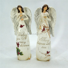 Christmas gift spiritual white angel with text statue