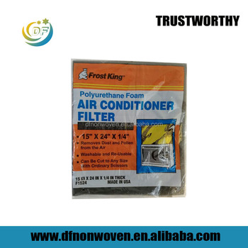 F1524 window air conditioner filter cloth bio sponge filter manufacturer/ Activated carbon foam