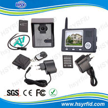3.5inch monitor video door phone wireless apartment alarm system with Remote