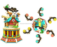 Hot selling in Uzbekistan market amusement rides rotating equipment kungfu panda ride for sale