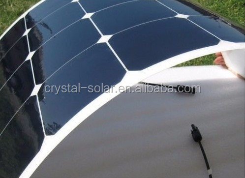 Thin film type Sunpower high efficiency mono cell flexible solar panel 100w