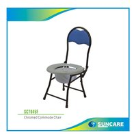 SC7045F, foldable commode chair with back