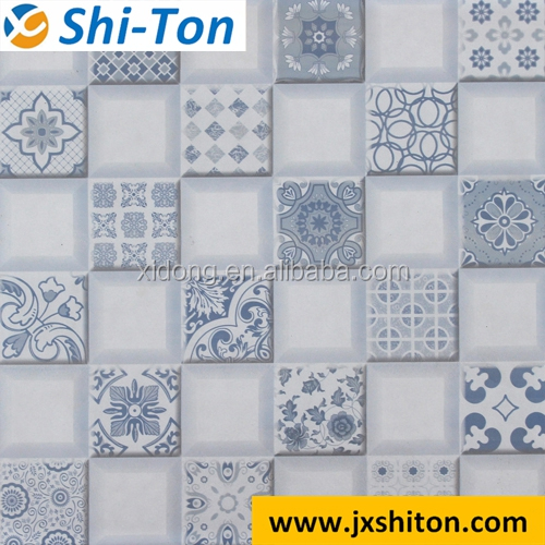 New model high quality glazed rustic colorful porcelain tile 300x300 made in china