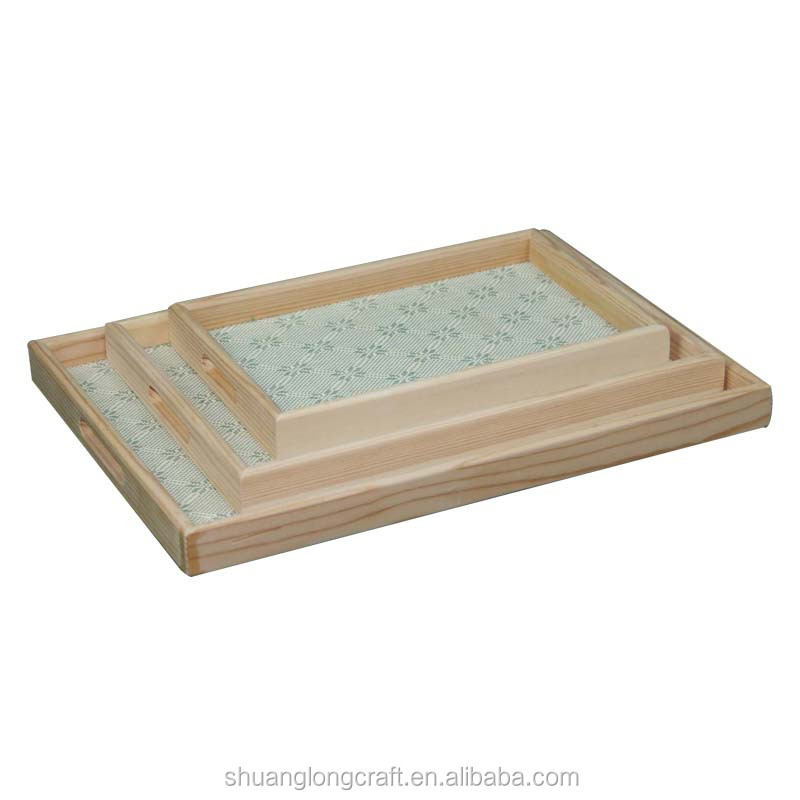 Wood Rectangular Serving Trays for sale