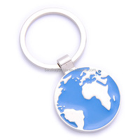 promotion metal hot sales globe keychain design gift