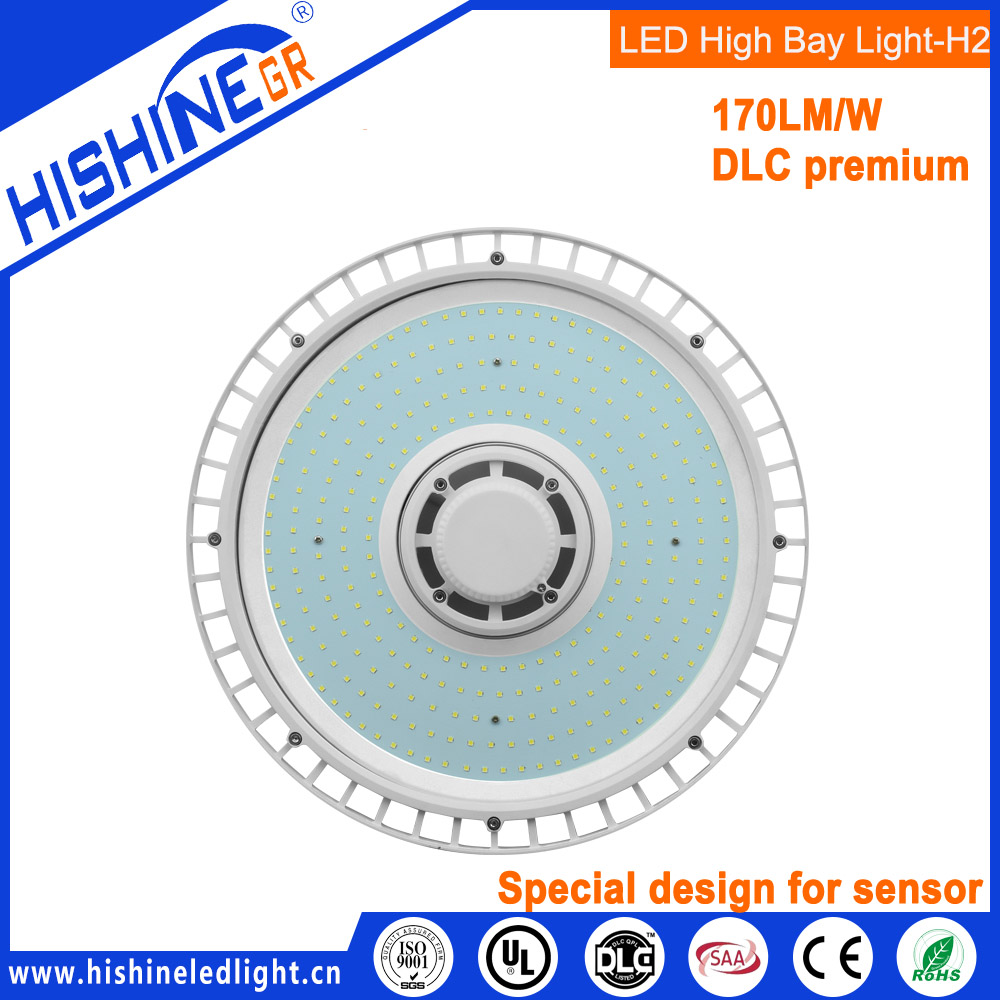 DLC UL UFO High Bay Led Lights 150w, IP65 UFO LED high bays 150w with motion sensor, zigbee
