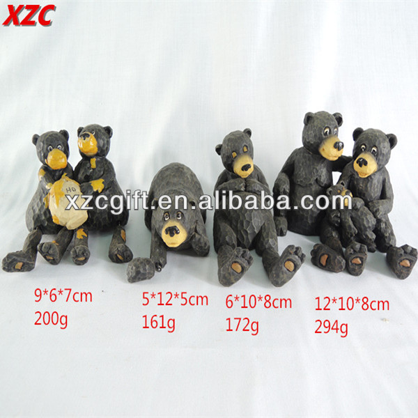 Polyresin Black Bears,Animal Decoration,Resin Garden Decorative Crafts