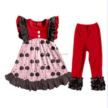Girls Valentine's Day Clothing Lovely Ostrich Printed Fultter Sleeveless Adorable Baby Outfits