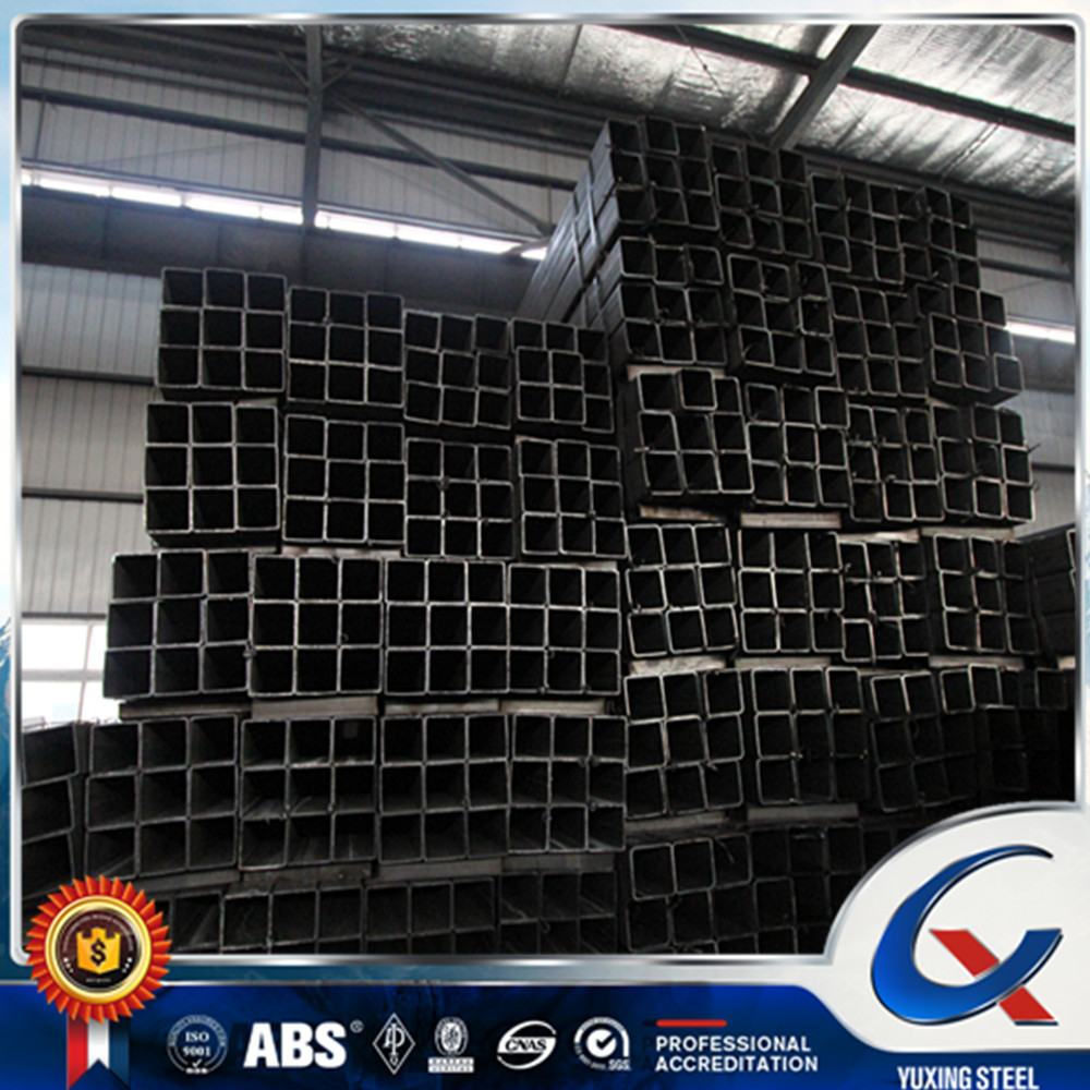 WELDED BLACK SQUARE STEEL PIPES USED FOR CONSTRUCTION MATERIAL