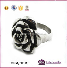 best cast stainless steel cheap wholesale men stainless steel ring with flowers style