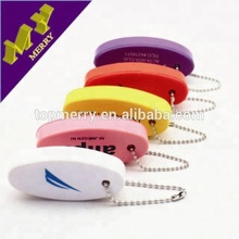 Promotional gifts pu foam key chain / floating key chain