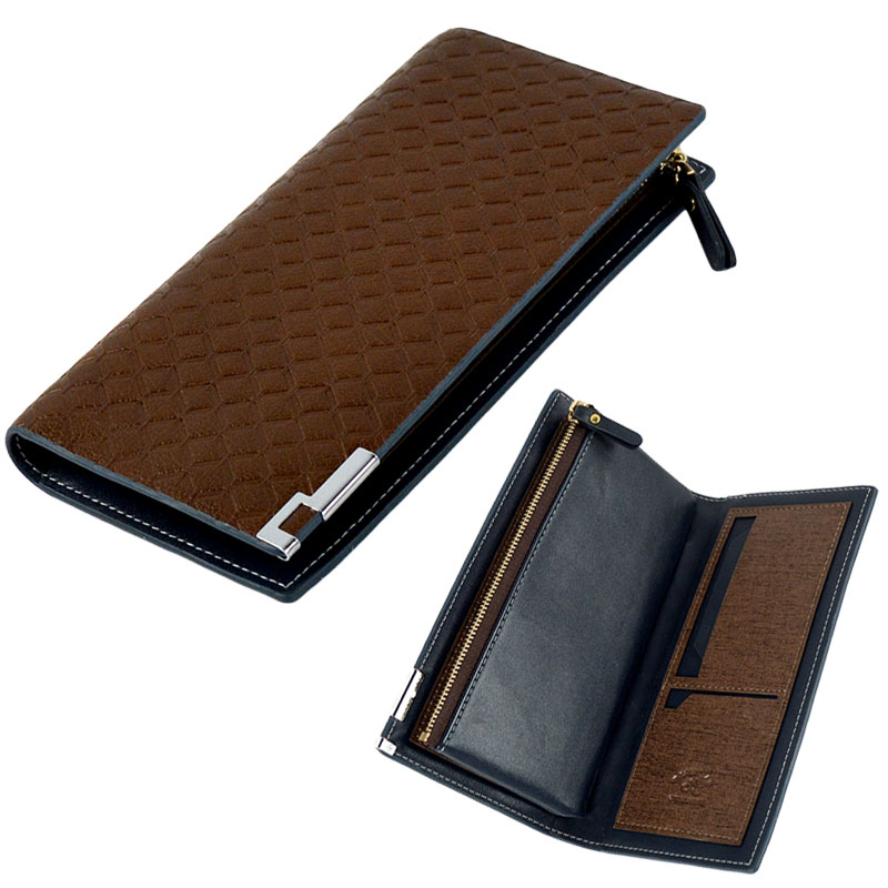 Ebay hot sale high quality PU Leather wallet fashion men clutch purse