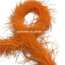 PM-512 cheap fluffy orange ostrich feathers boa For Party Decoration