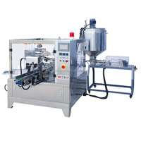 Liquid and paste condiment filling packing machine unit