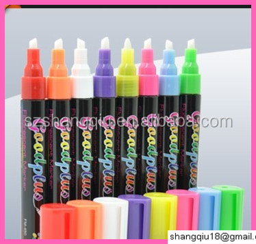 Fluorescent marker pen, 6mm nib size, 8pcs in one set