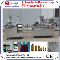 YB-YG4 fully automatic syrup filling machine/manufacturing plant/production line/Tel:0086-18516303933