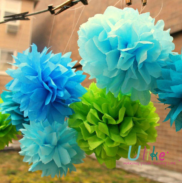8inch Yard Tissue Paper Pom Poms Flower Balls Party Favor Decoration Birthday Paper Decoration