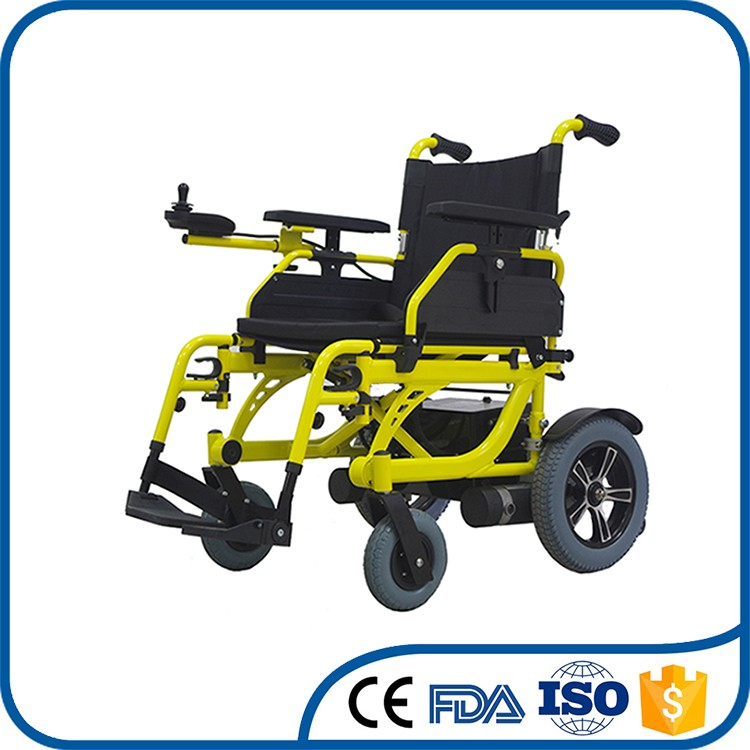 Professional OEM nylon cushion timeproof foldable wheelchair electric