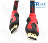 HD Braided Male To Male HDM I Cable With Two Magnetic Rings Support AV Video And Audio Signal Transmission