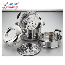 China supplier new kitchen products cooking pot set cookware stainless steel steamer pot