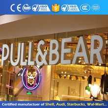 Led Illuminated Company Sign 3D Signboard Customized Waterproof Front Lit Embossing Acrylic Channel Letter