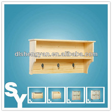 Unfinished Sanded Hanging Wall Display Storage Shelving Units
