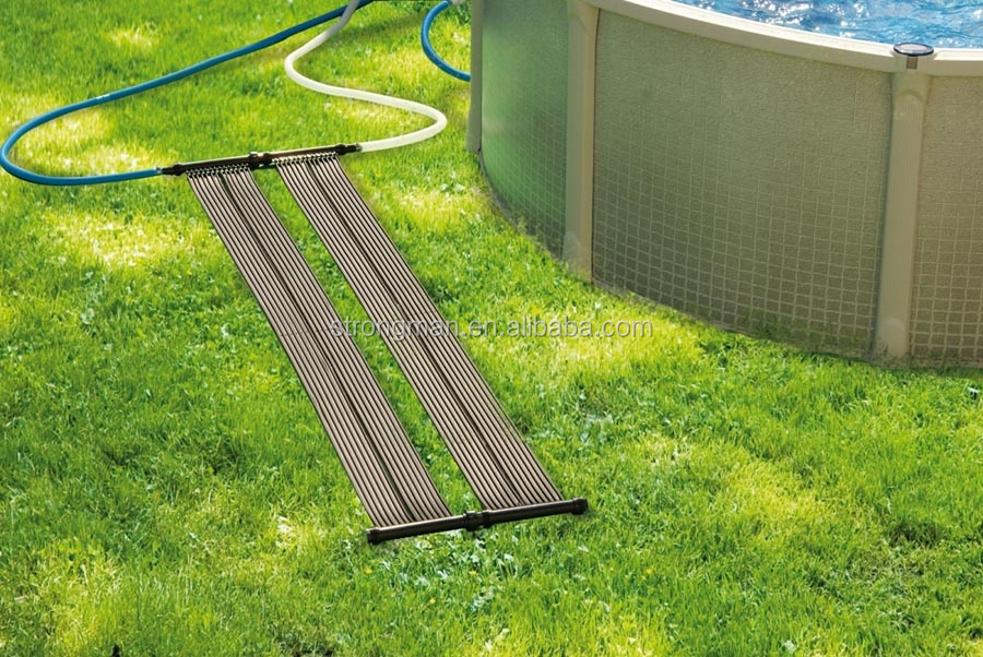 black PVC swimming pool solar water heater
