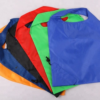 hotselling  high quality  polyester portable shopping  reusable folding   bag with customized logo for wholesale