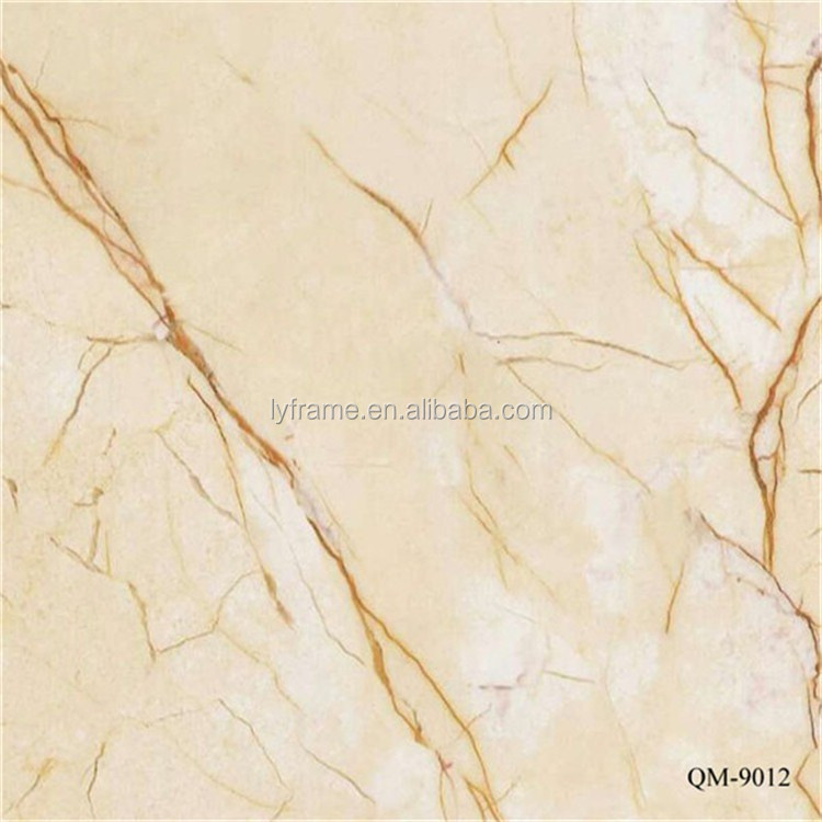 transparent stamping foil, uv painted pvc resin material faux marble walltiles /slab for indoor deocration