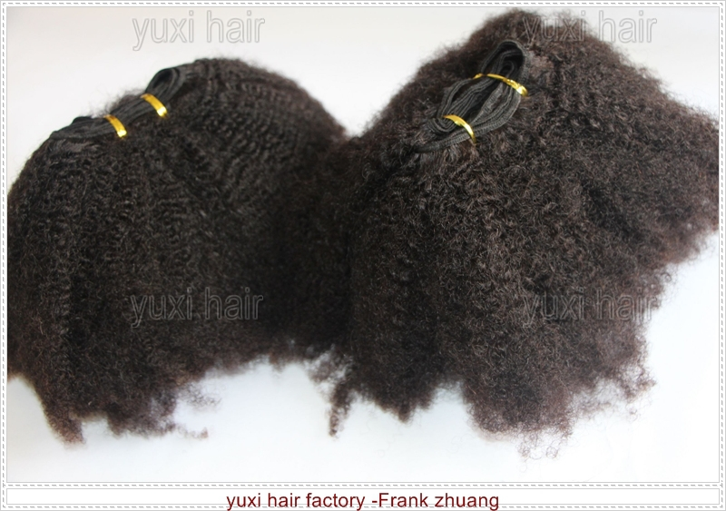 Top selling 4C afro kinky curly human hair extensions