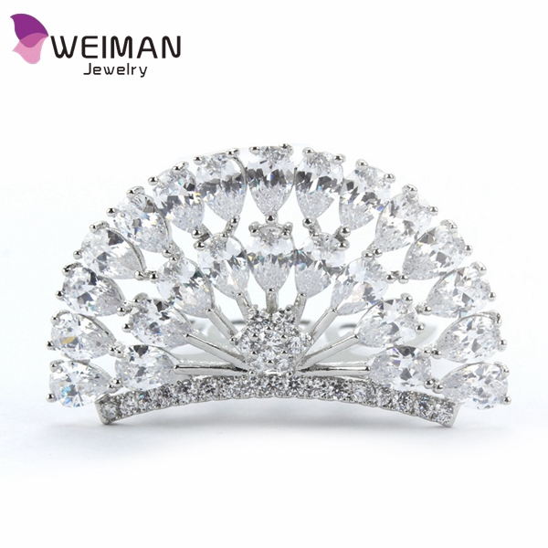 European Design Floral Wedding Hair Accessories CZ Bridal Hair Comb Wedding Hair accessories Jewelry Hot Selling
