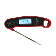 Digital Folding Instant Read Meat Thermometer with Magnet and Bottle Opener Thermometer for Meat Use