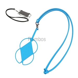 Custom Silicon Neck Lanyard Strap Cell Phone Case Phone Strap for iphone 6S 5S 4S for Samsung Smartphone