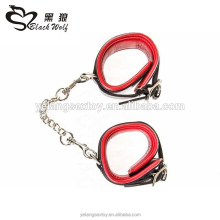 Online Sex Shop Double Layer Fetish Bondage Gear Faux Leather Handcuff Sex Toys