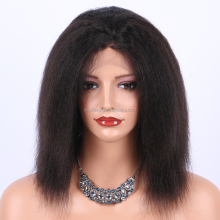 Ali Bliss Wig Machine Made Wholesale Cheap Price Free Parting Natural Color Italian Yaki Human Hair Wig For Afro America Women
