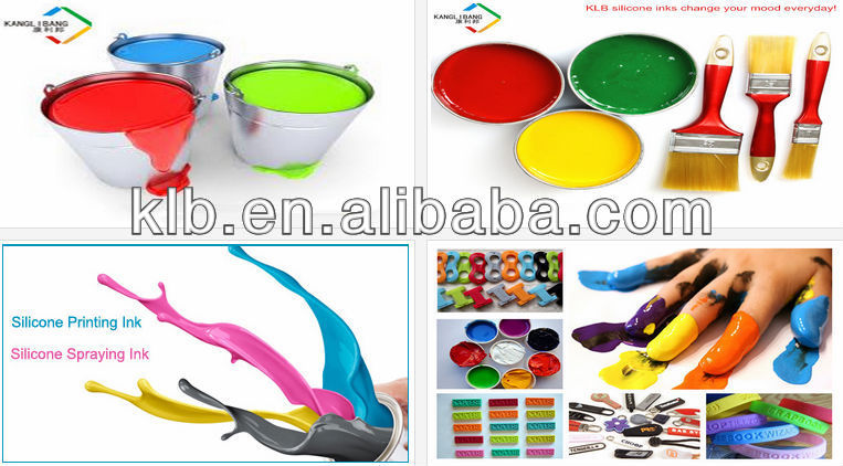 Silicone silk screen printing inks for logo prints on silicone tube and hoses