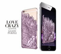 for iphone 6 case Top Seller 2015 In Stock Glass Purple Angle King phone case for iphon 6 case