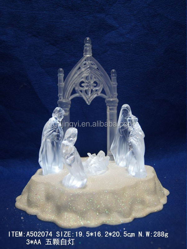 Dongguan LED lighting acrylic christmas nativity scene supplier for 2017