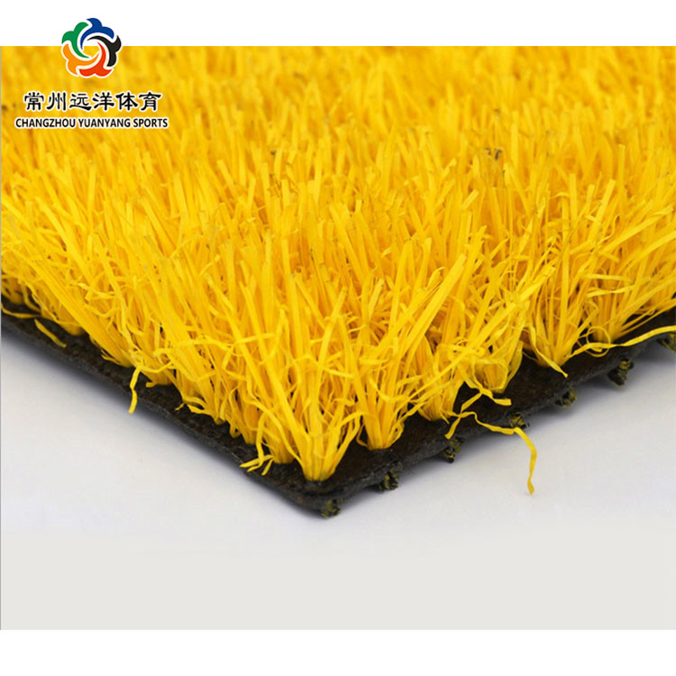 2017 new design yellow leisure grass and beautiful colors lawn synthetic lawn mat