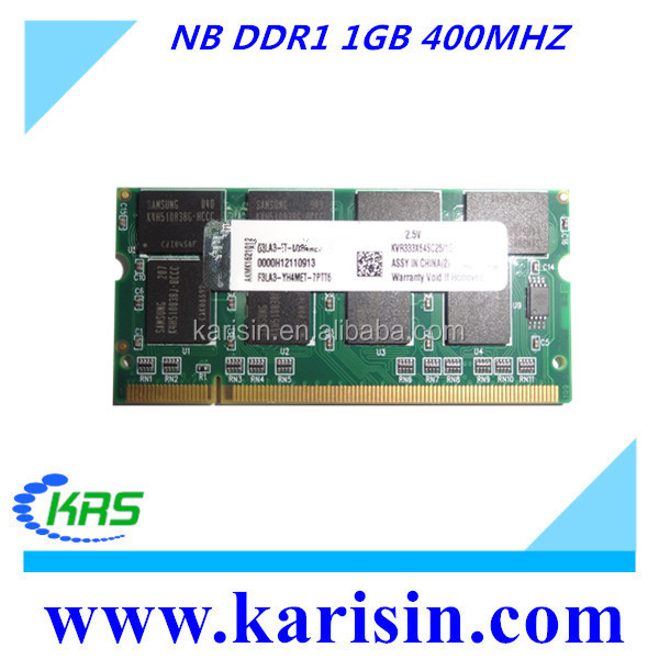 Laptop memory ram DDR 1G 400 pc 3200 for notebook