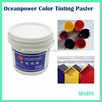 Water based pigment paste / colorant / paint with ecologic ingredients