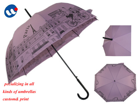 Advertising/Promotion Hot-transfer print gift lady umbrella,corporate gifts umbrellas