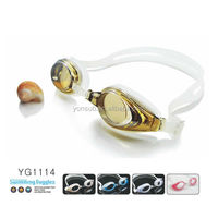 adult wholesale golden swimming goggles