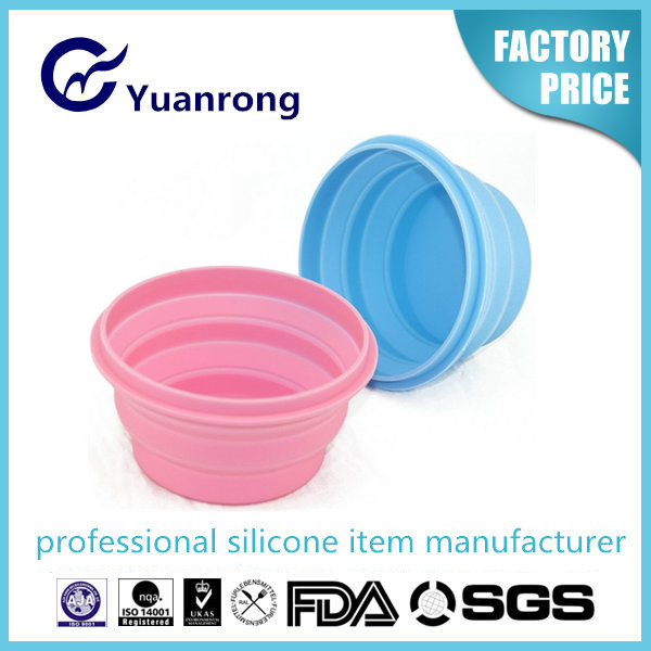 Convenient Collpsible Silicone Food Bowl Food Grade Safety Class
