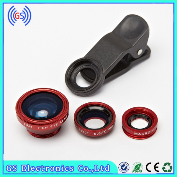 2015 New Products 0.67X Wide Angle Cell Phone Camera Lens Macro Fish Eye Phone Lens
