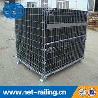 Warehouse storage mesh wire cage for PET Preform