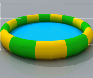 2018 New style above ground giant inflatable water swimming pool
